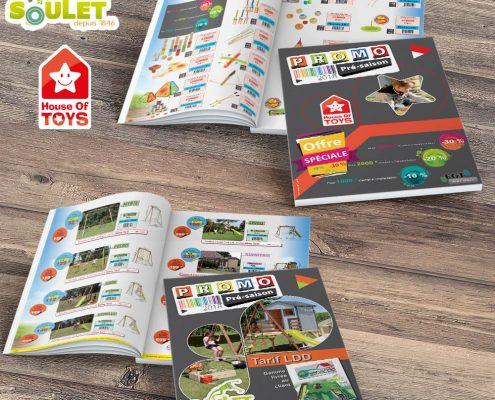 Réalisation d'un catalogue jeux, devis gratuit - Hervé Roux, Infographiste Print & Web en Vendée