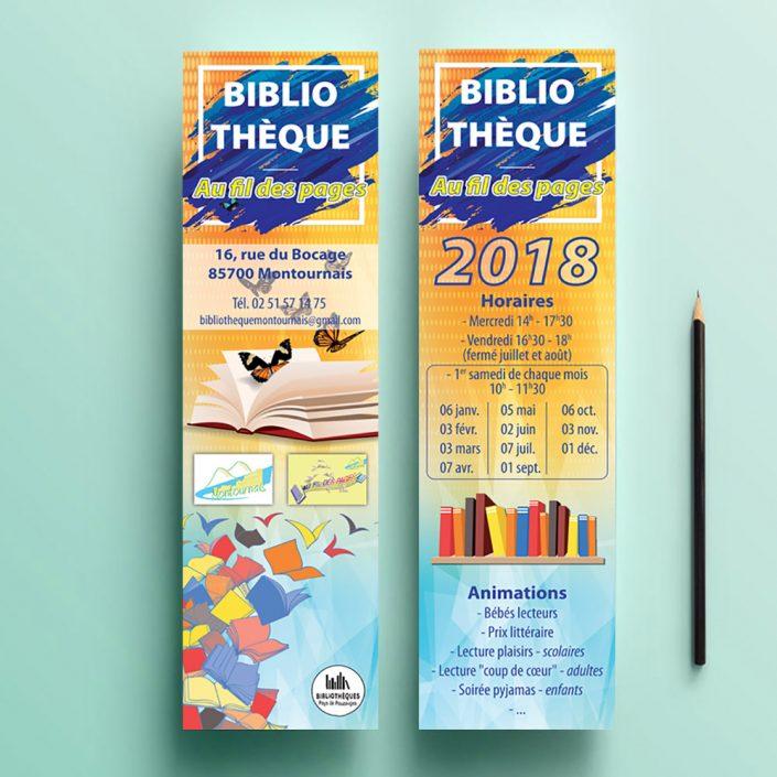 Création marque page personnalisé pas cher - Hervé Roux, Infographiste Print & Web en Vendée
