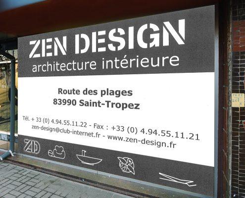 Création panneau publicitaire pas cher - Hervé Roux, Infographiste Print & Web