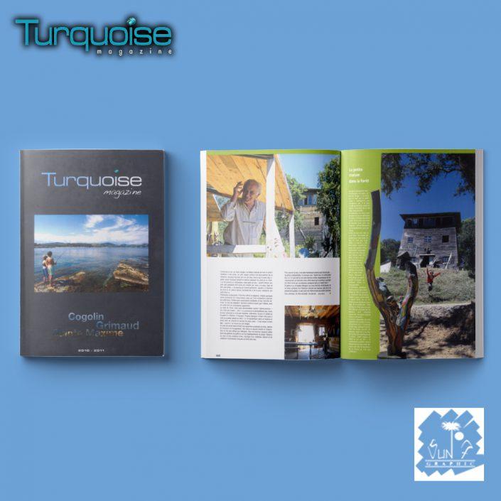 Magazine de luxe Turquoise Magazine, Saint-Tropez, Var, France
