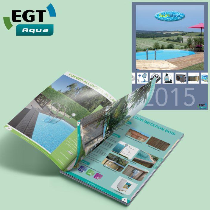 Catalogue produits EGT Aqua, Vendée, Pays de La Loire - Hervé Roux, Infographiste Freelance en Vendée