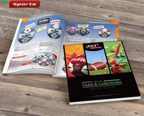 Catalogue produits EGT Sports - Hervé Roux, Infographiste Freelance en Vendée