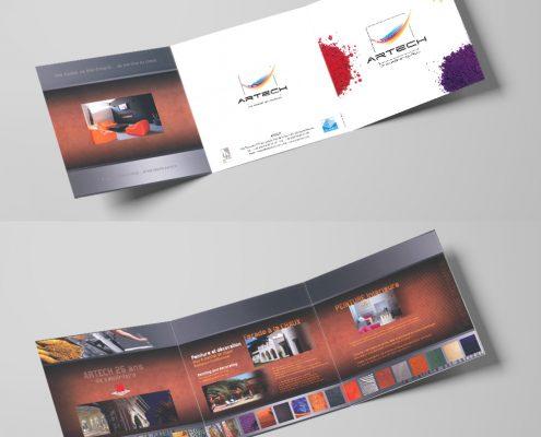 Création d'un dépliant 3 volets pour un artisan, devis gratuit - Hervé Roux, Infographiste Print & Web en Freelance en Vendée, Pays de La Loire, France