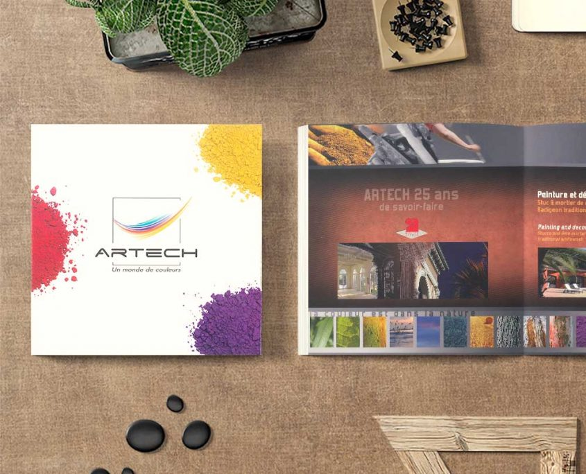 Création d'un dépliant 3 volets pour un artisan pas cher - Hervé Roux, Infographiste Print & Web en Vendée