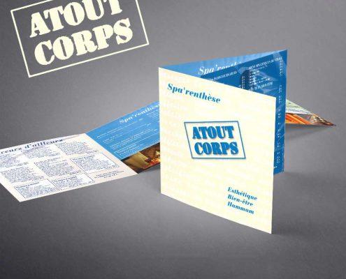 Création d'un dépliant 3 volets pour un spa, Saint-Tropez, Var, France | Hervé Roux, Infographiste Print & Web en Vendée