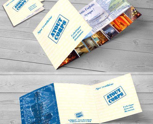Création d'un dépliant 3 volets pour un spa pas cher - Hervé Roux, Infographiste Print & Web en Freelance en Vendée